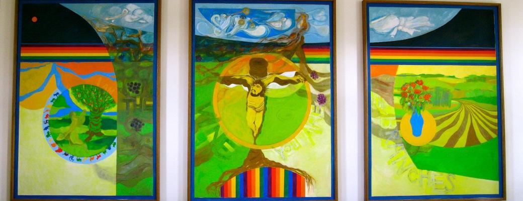 Fellowship Hall - Eckheart Paintings