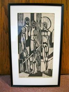 Eckheart Woodcut Print