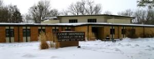 Good Shepherd Lutheran Church in the Snow