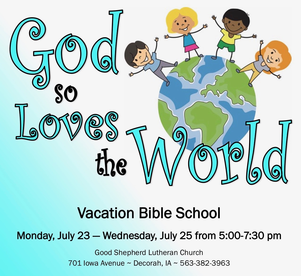 Last Day of Sunday School and Youth Forum, Sunday, May 20 – Good