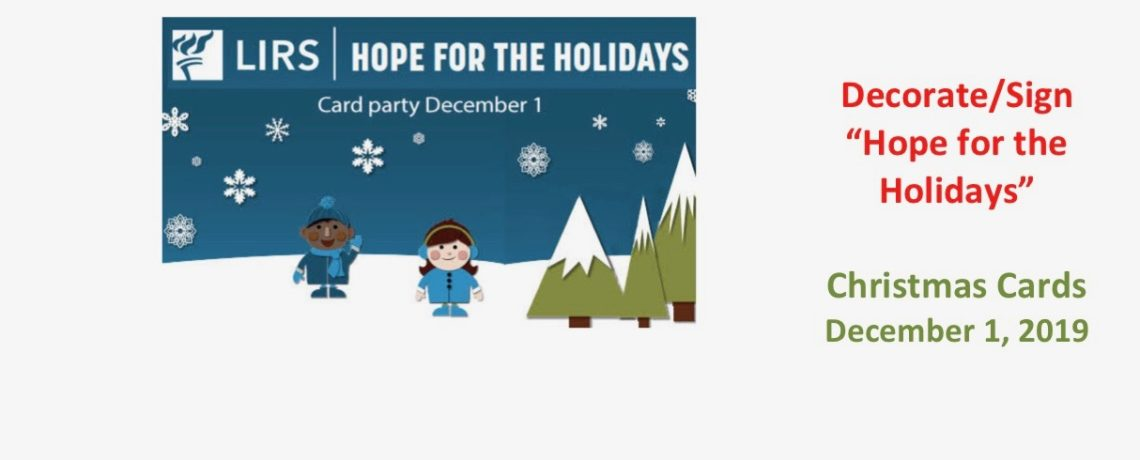 Hope for the Holidays – December 1, 2019