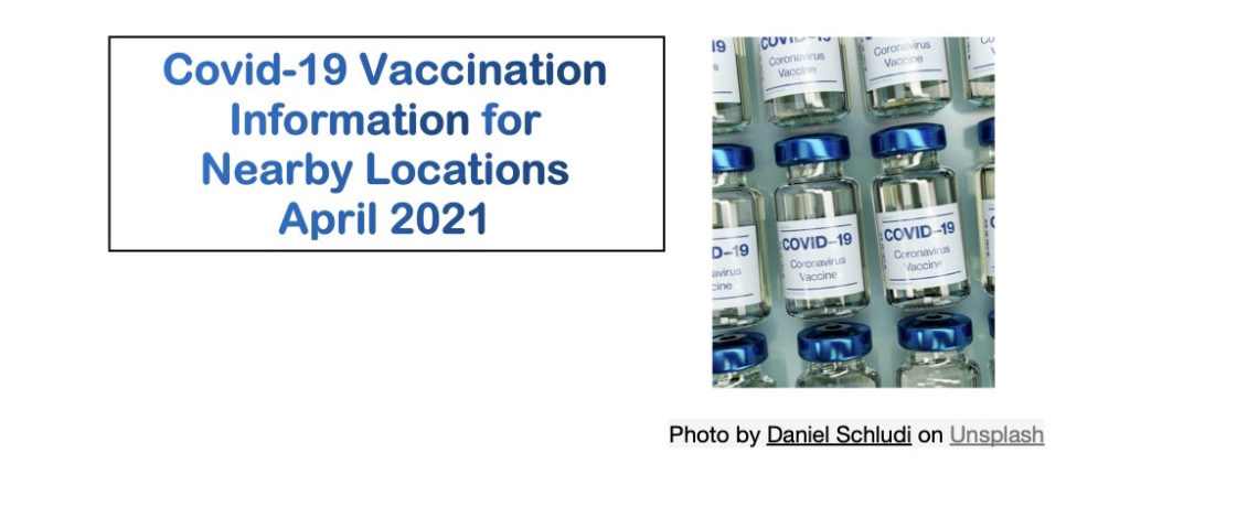 Covid-19 Vaccination Information – April 2021