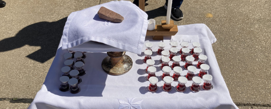 April Outdoor Holy Communion Services